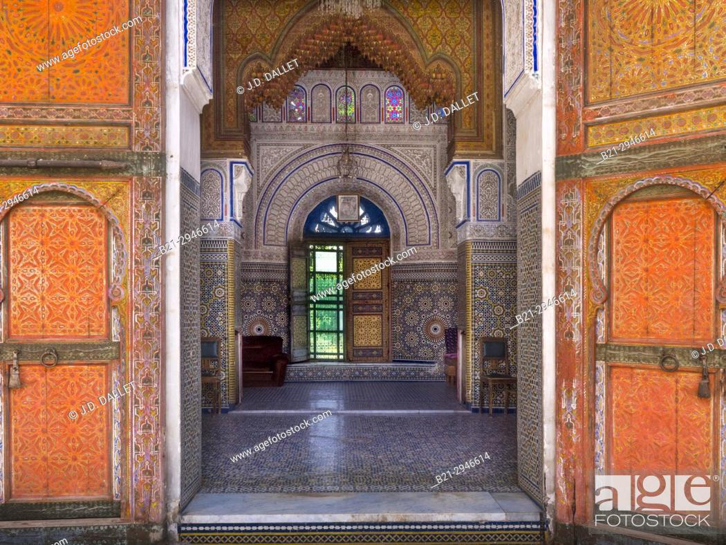 """Stock Photo: Morocco, Fes, The Glaoui Palace, in the """"""""Medina"""""""" (old part) of Fes."""