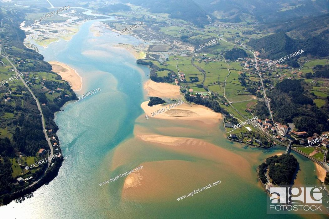 Stock Photo: Urdaibai Biosphere Reserve, Sukarrieta, Biscay, Basque Country, Spain.