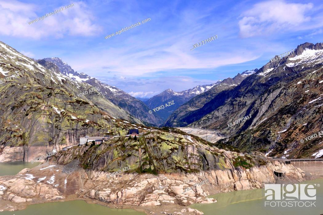 Stock Photo: Dam, Grimsel pass, Switzerland.