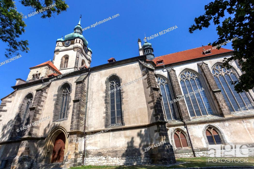 Stock Photo: Church of Saints Peter and Paul, Melnik, Central Bohemia, Czech Republic.