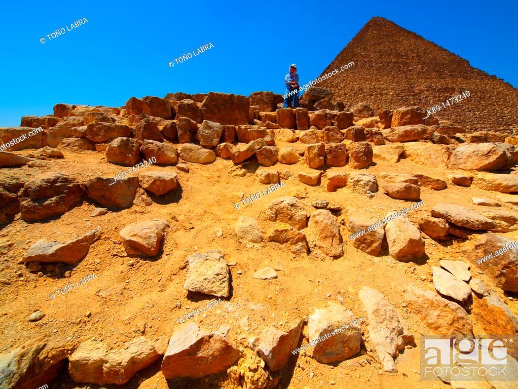 Stock Photo: Keops pyramid. Giza. Cairo. Egypt.