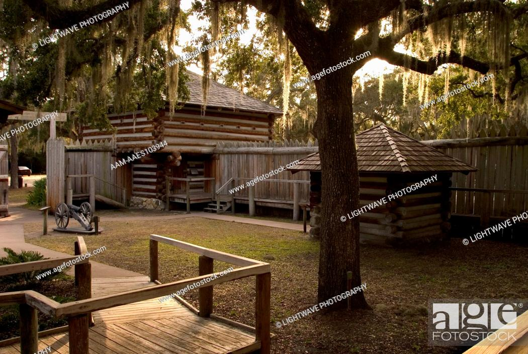 Fort Christmas Florida.Fort Christmas Christmas Fl Stock Photo Picture And