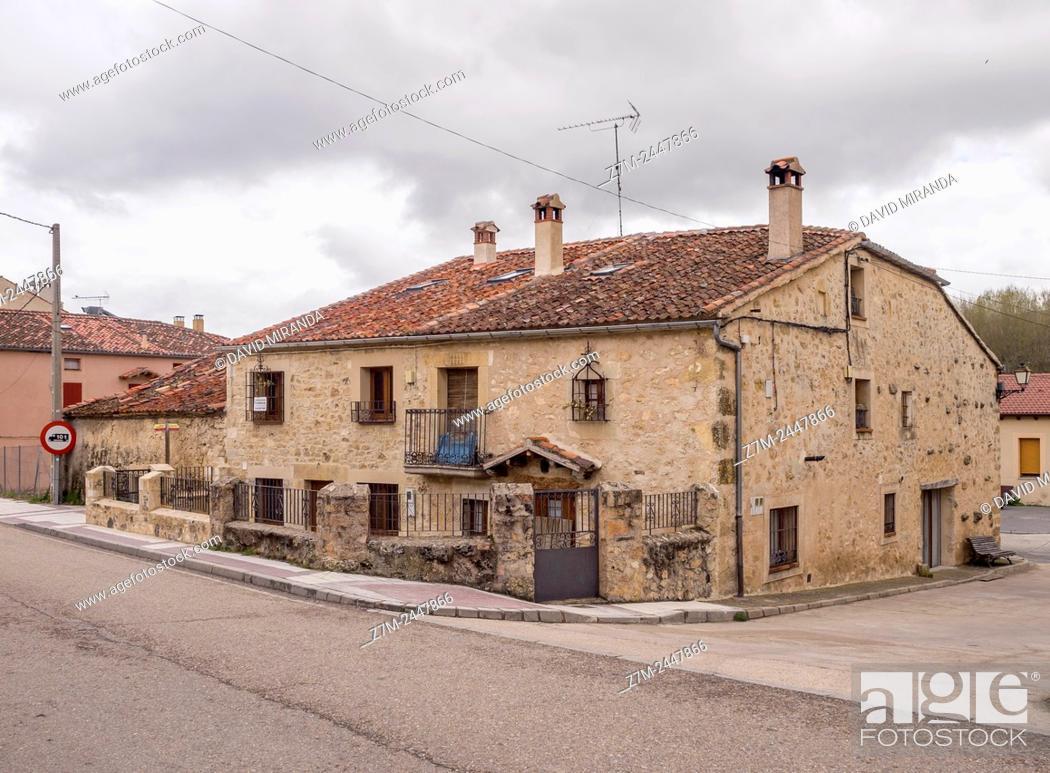 Stock Photo: Typical architecture, Prádena. Segovia province. Castile-Leon. Spain.