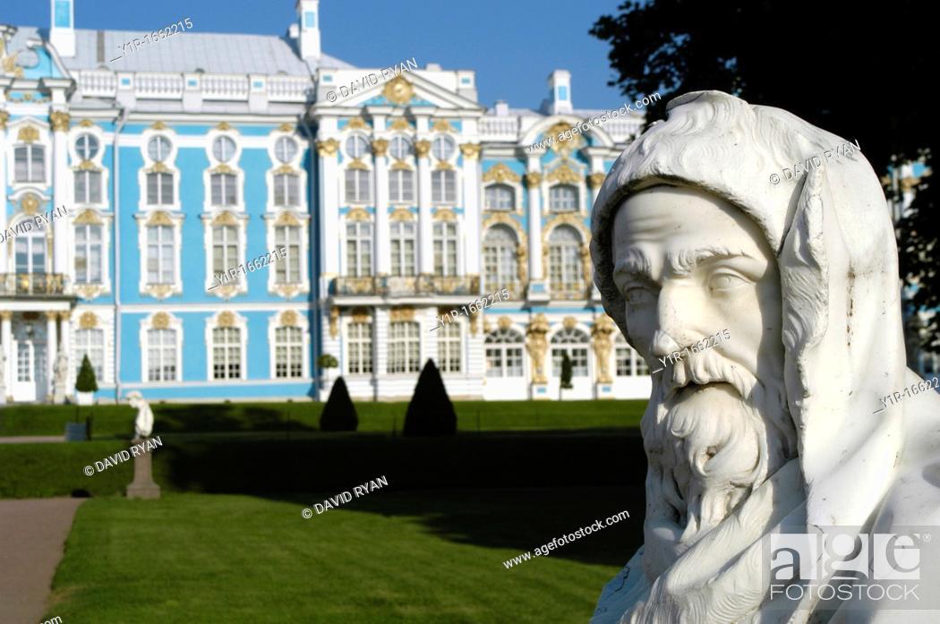 Stock Photo: Russia, St  Petersburg, Tsarskoye Selo, Catherine's Palace.