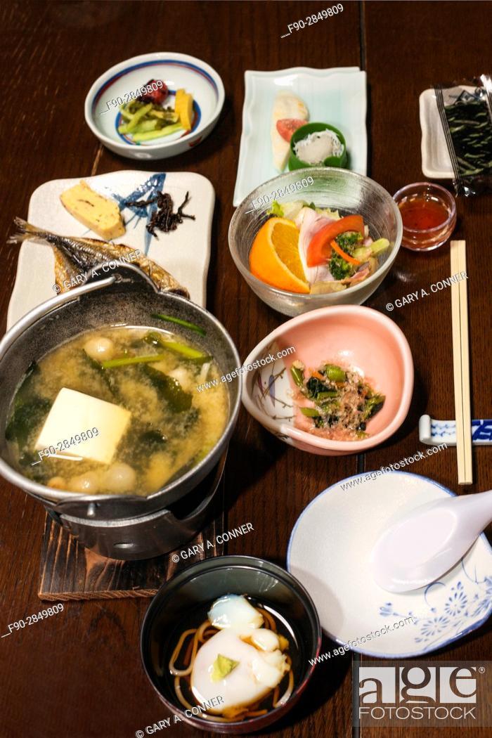 Imagen: Multi course traditional breakfast at onsen resort, Hakone, Japan.