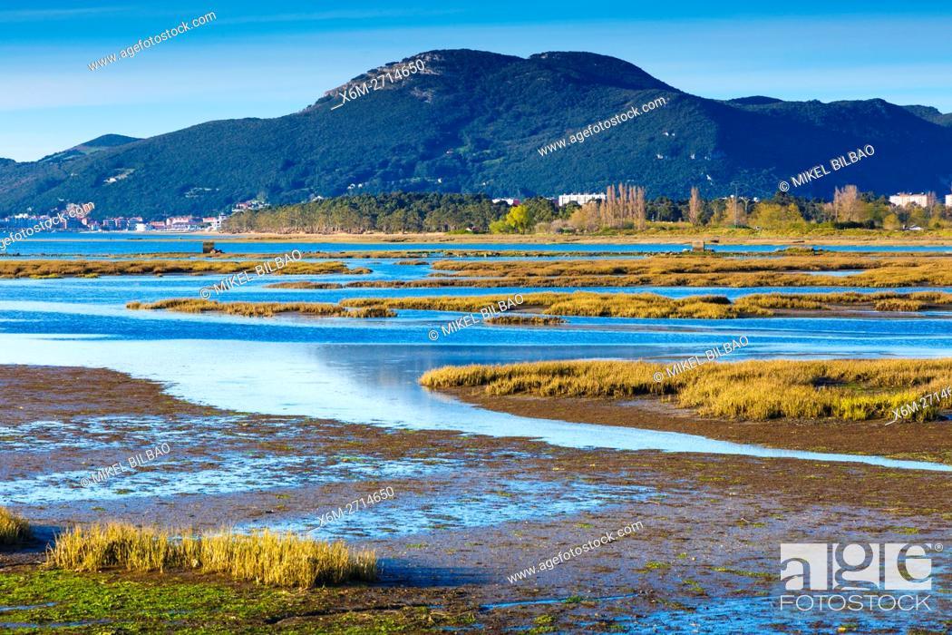 Stock Photo: Santoña, Victoria and Joyel Marshes Natural Park. Colindres, Cantabria, Spain.