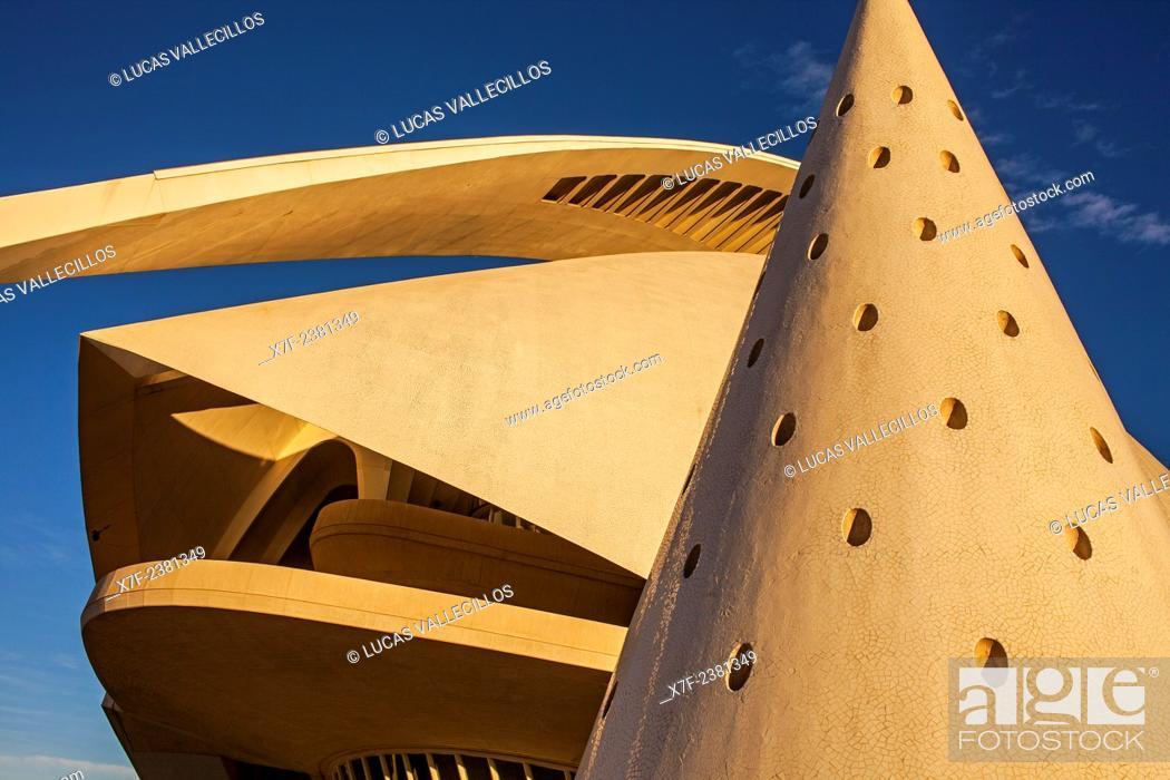 Stock Photo: Palace of Arts 'Reina Sofia', City of Arts and Sciences.Valencia. Spain.