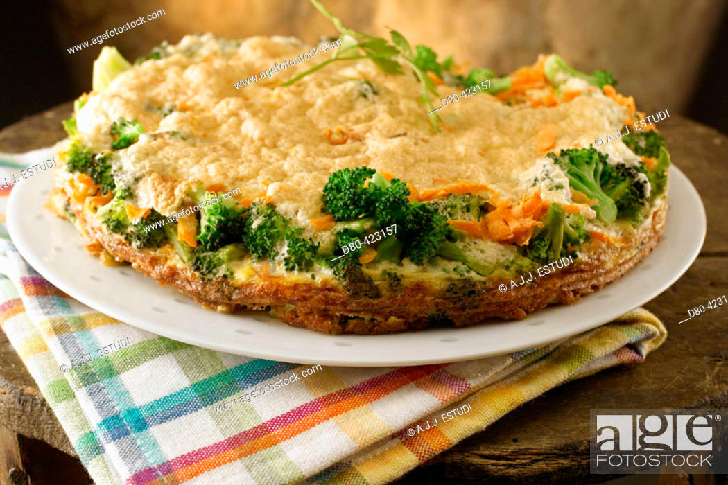 Stock Photo: Broccoli and carrots mousse.