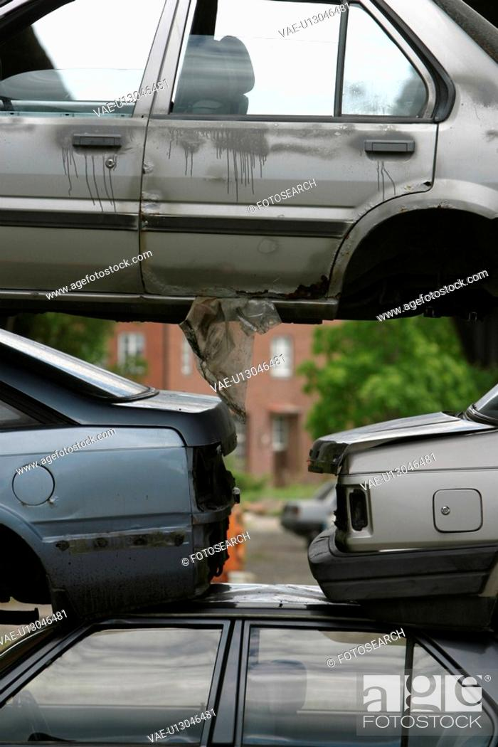 Stock Photo: junkyard, automobiles, cars, rusty, autos, rusting.