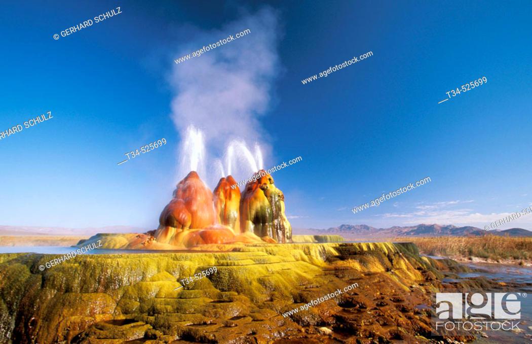 Stock Photo: Geyser. Black Rock Desert. Nevada, USA.
