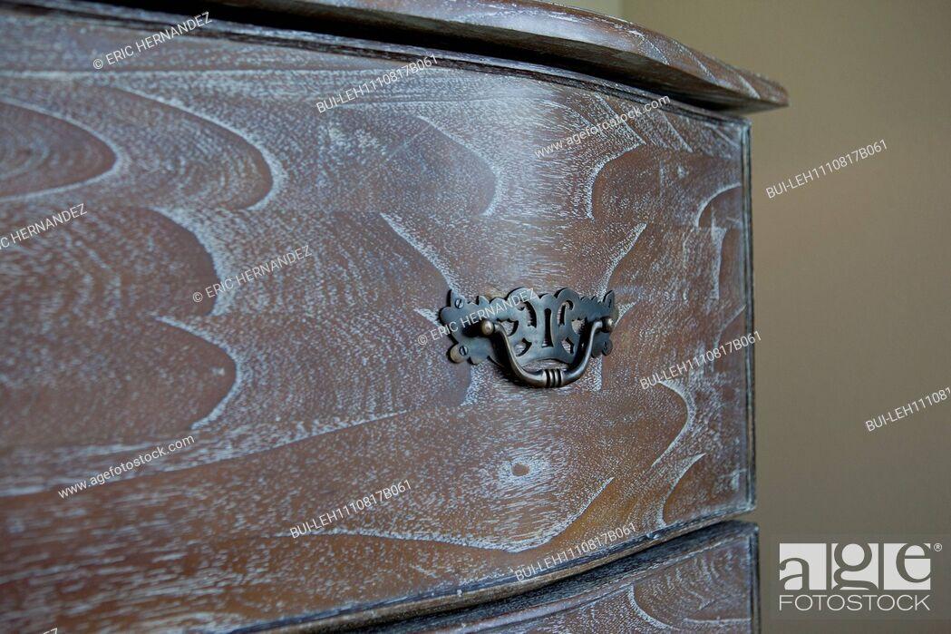 Stock Photo: Detail shot of drawer pulls; California; USA.