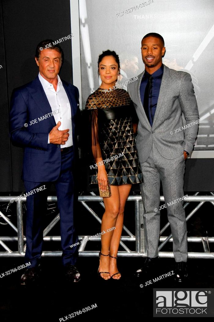 Optimista Supermercado pub  Sylvester Stallone, Tessa Thompson and Michael B. Jordan at the Los Angeles  World Premiere of Creed..., Stock Photo, Picture And Rights Managed Image.  Pic. PLX-32766-030JM | agefotostock