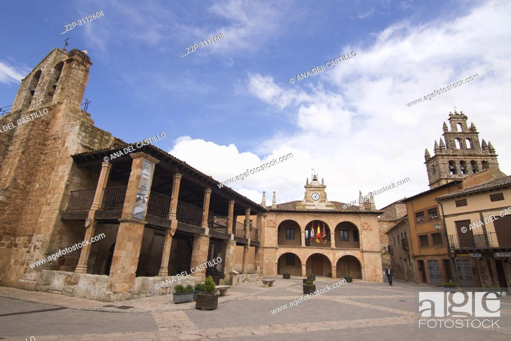 Stock Photo: Ayllon is one of the most beautiful villages in Spain Segovia province.