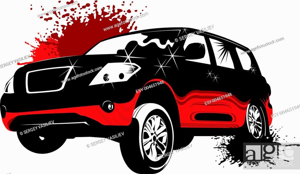 Stock Photo: concept car.