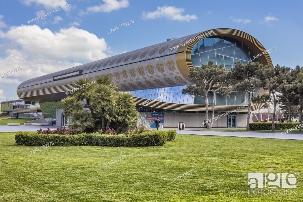 Stock Photo: Azerbaijan National Carpet Museum building, Baku, Azerbaijan.