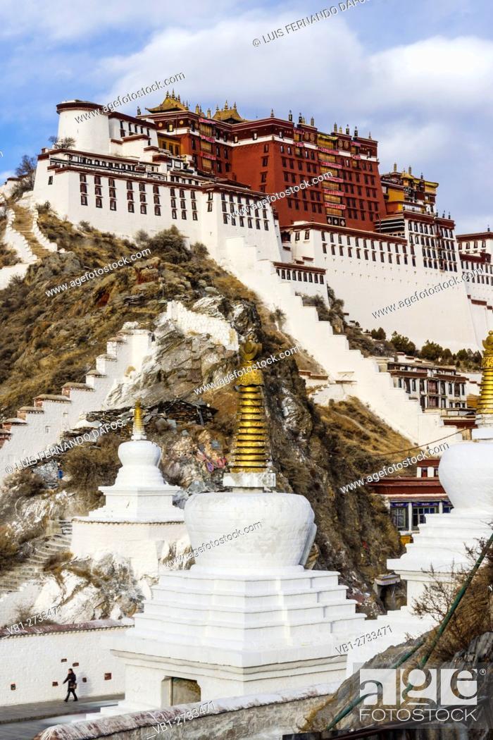 Stock Photo: Potala Palace. Lhasa, Tibet.