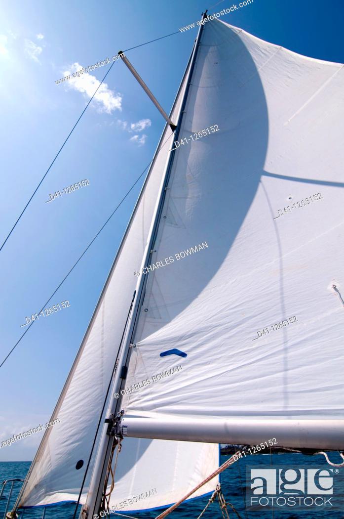 Stock Photo: East Africa, Kenya, sailing Indian Ocean.