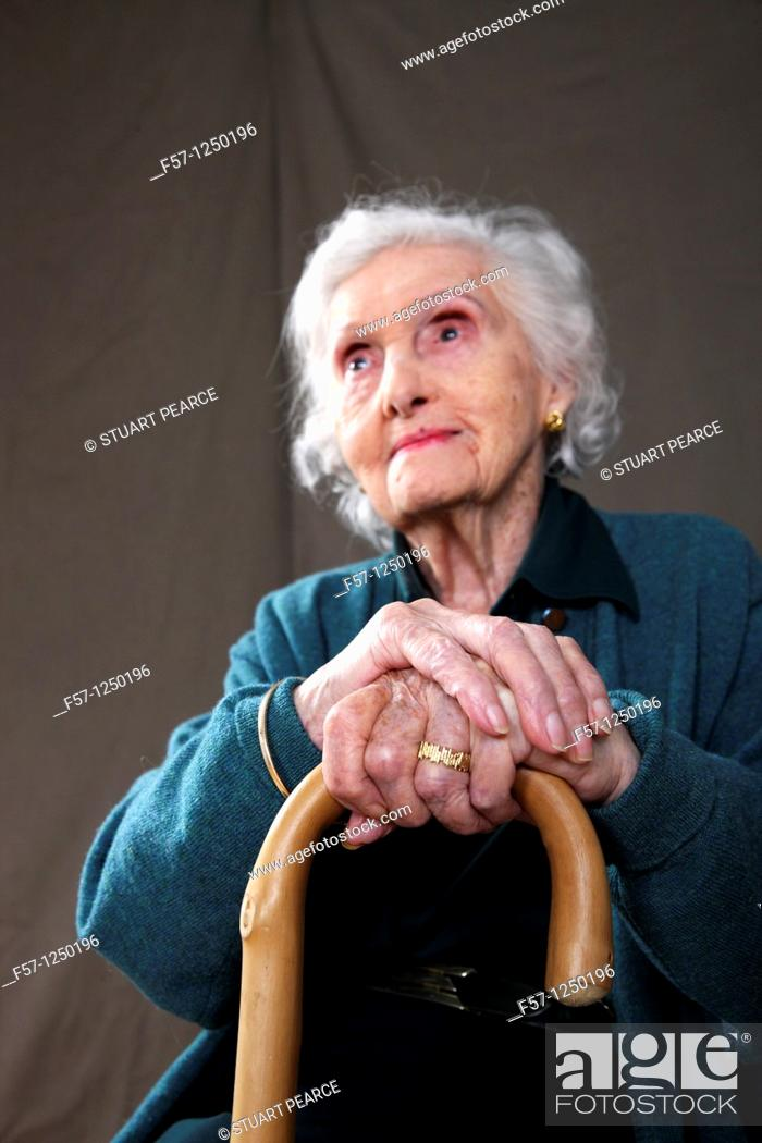 Stock Photo: Ninety-seven year old Great Grandmother.
