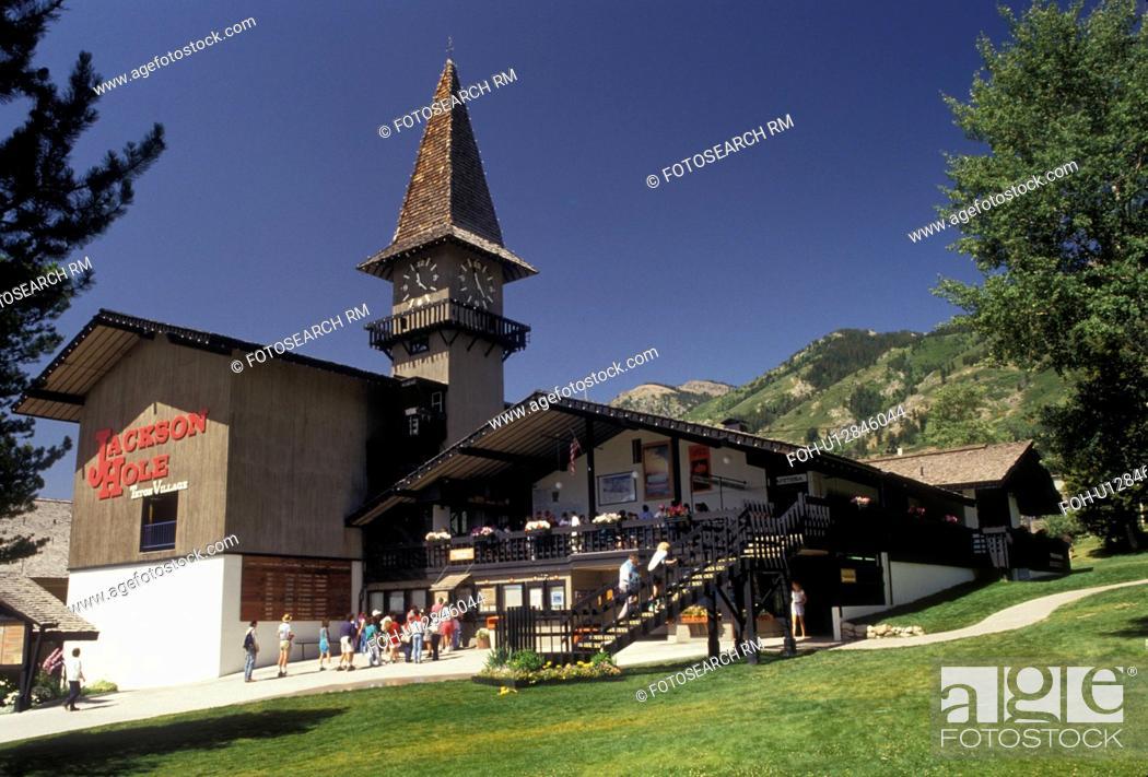 Jackson Hole, Wyoming, Rocky Mountains, Base lodge and