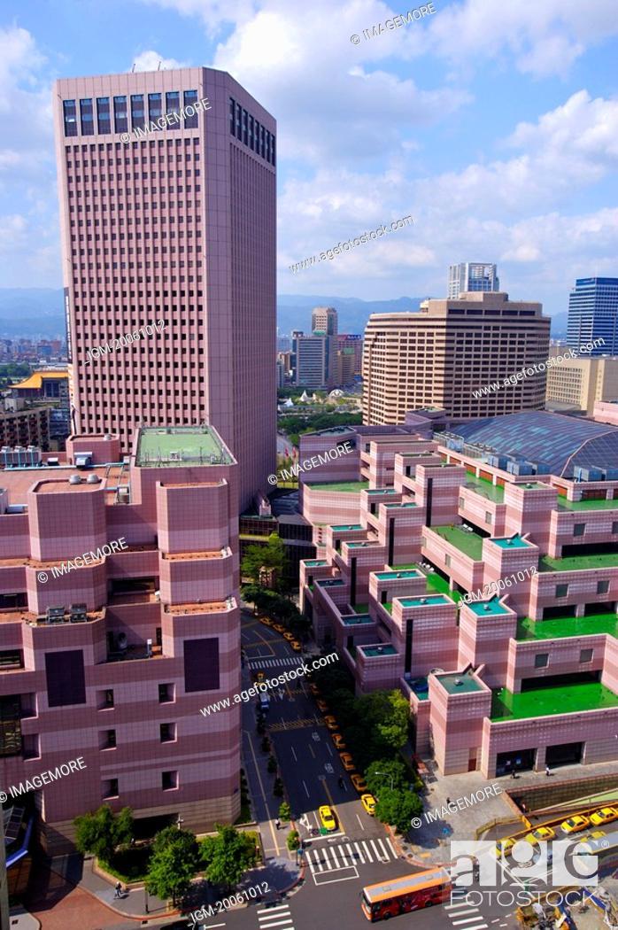 Stock Photo: Taiwan, Taipei, Taipei World Trade Center.