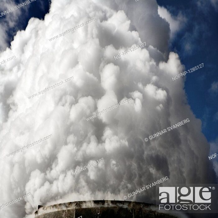 Stock Photo: Steam coming from a geothermal area, Iceland.