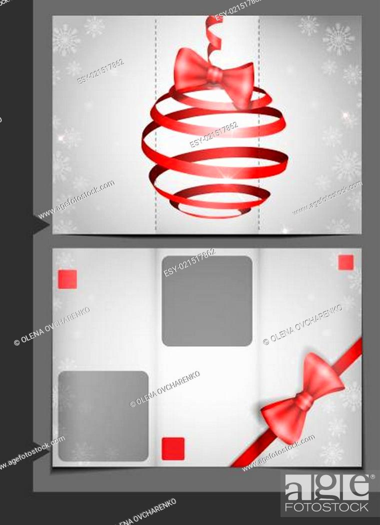 Stock Photo: Brochure Template Design.
