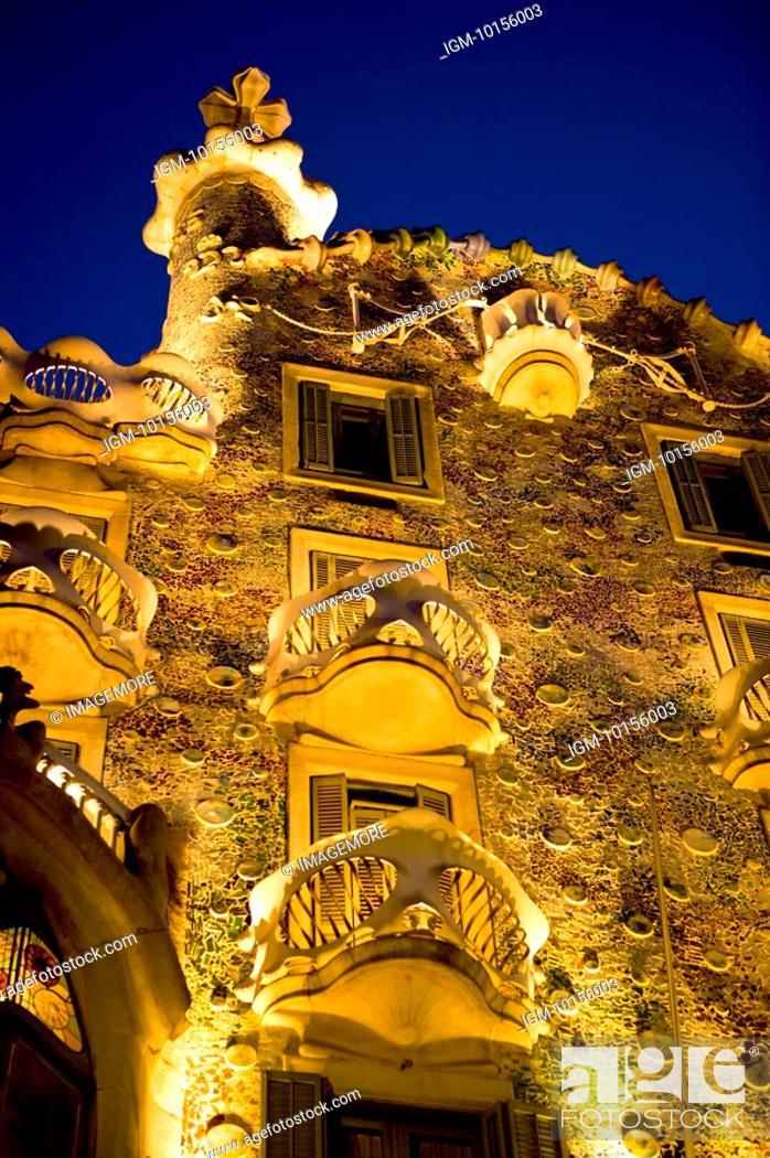 Stock Photo: Spain, Catalonia, Barcelona, Casa Batllo.
