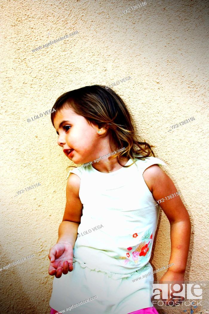 Stock Photo: Girl posing in color.