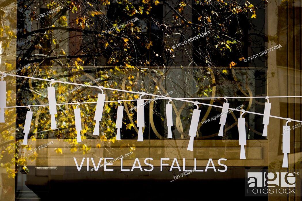 Stock Photo: Cartel Fallas in Valencia, valencia.