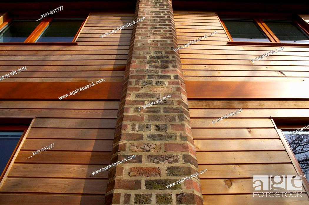 Stock Photo: Architectural detail of modern building.