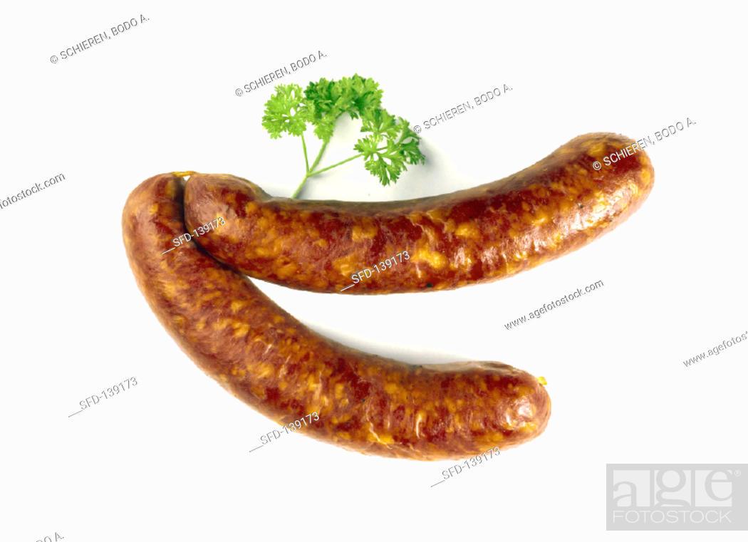 Stock Photo: Two Sausage Links.