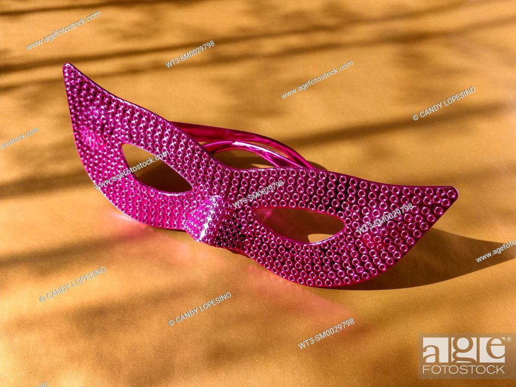Stock Photo: Carnival pink mask.
