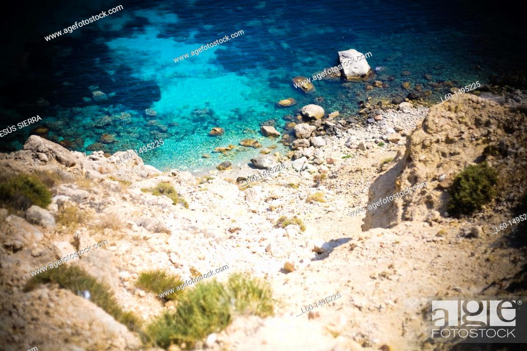Stock Photo: Beach , Cabo de Gata, Almeria, Spain.