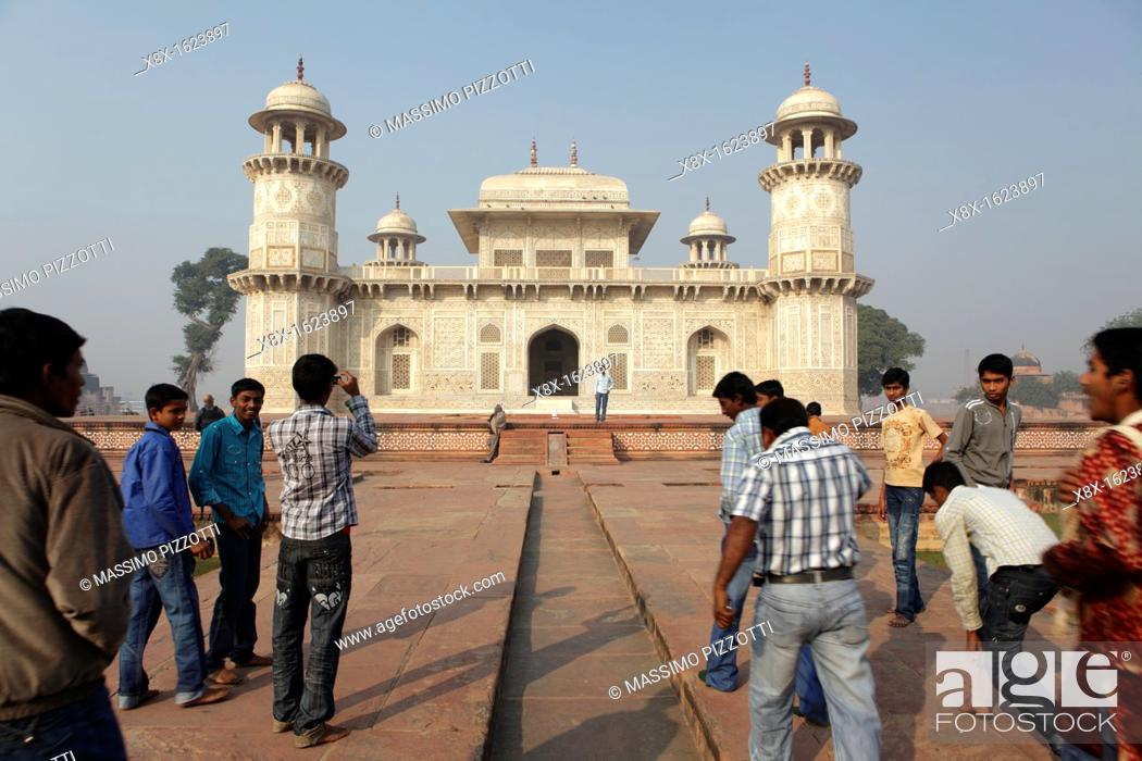 Stock Photo: Itmad-Ud-Daulah's Tomb, also known as Baby Taj Mahal, Agra, India.