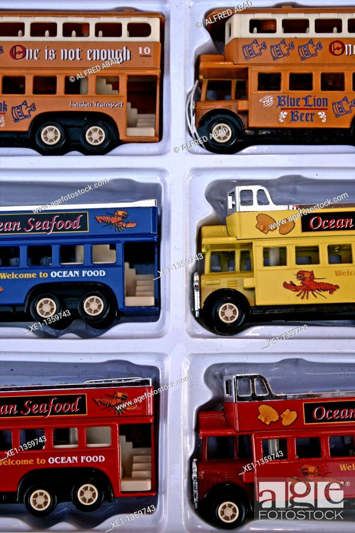 Stock Photo: Miniature bus.