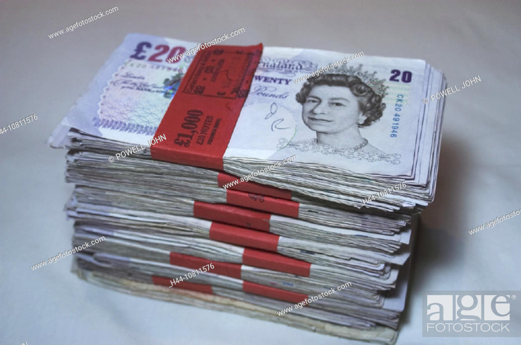 Bank Notes British Pound Bundles
