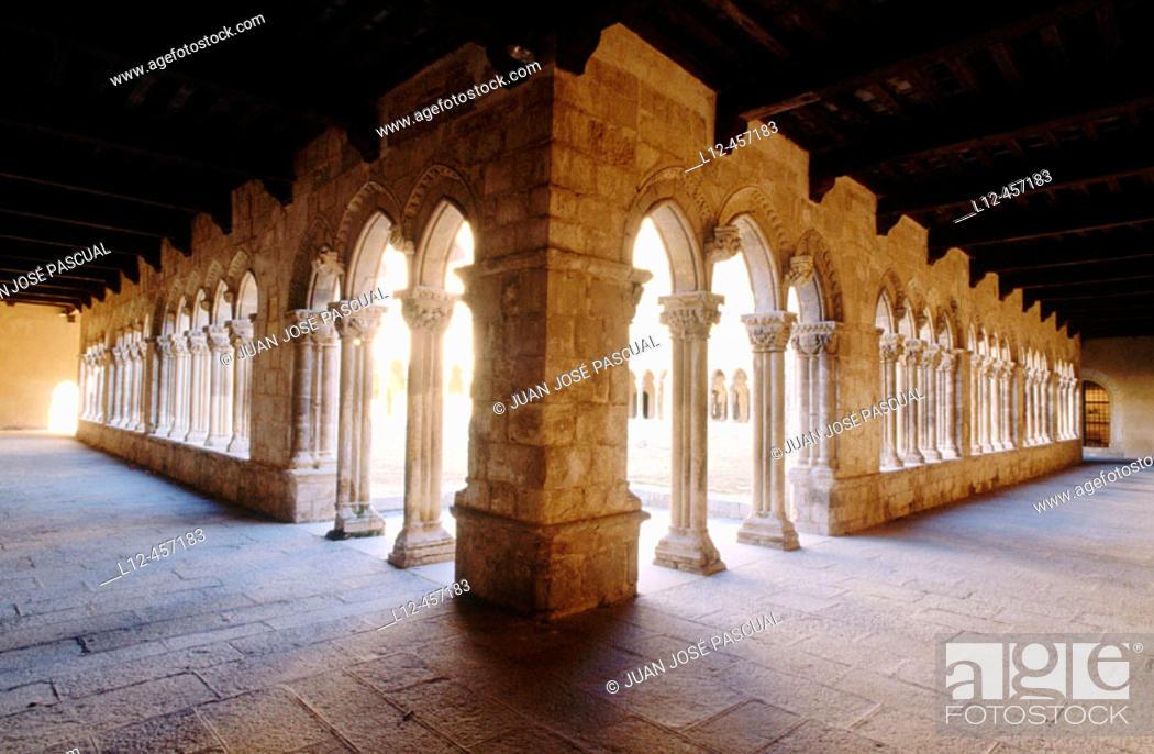 Stock Photo: Cloister of the Santa María la Real convent, Nieva. Segovia province, Castilla-León, Spain.