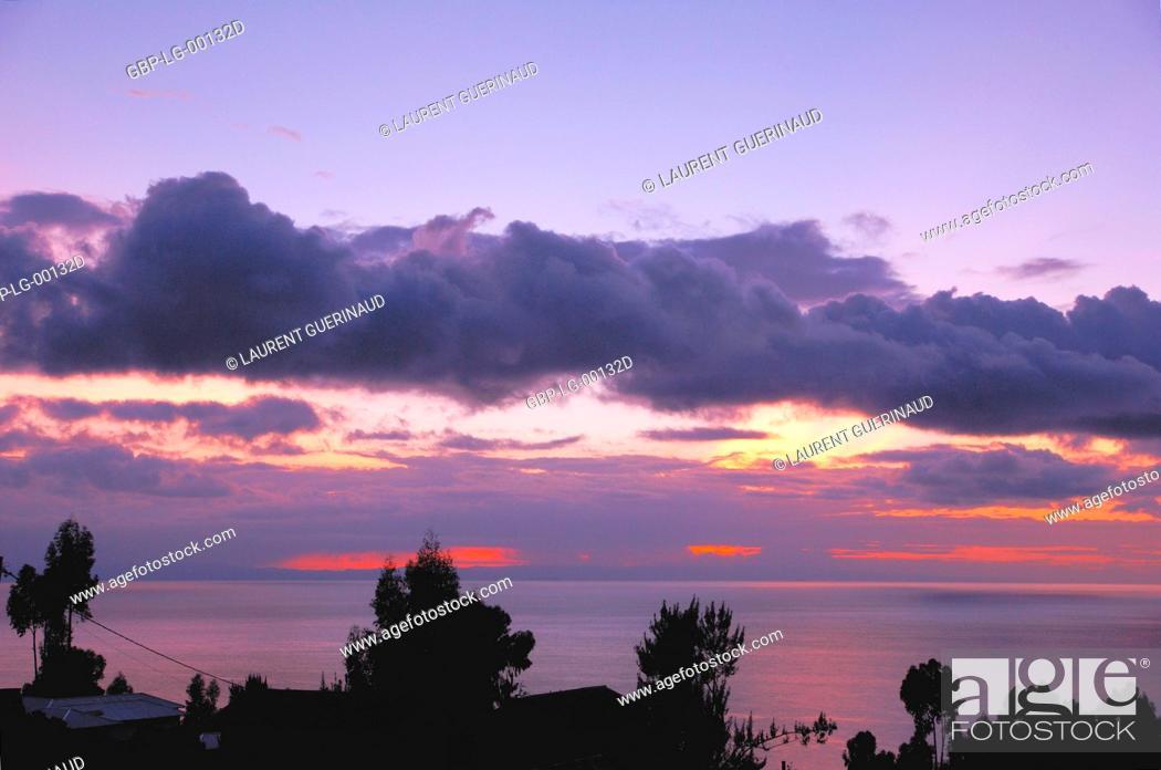 Stock Photo: Isla Amantani, Titicaca Lake, Lima, Peru.