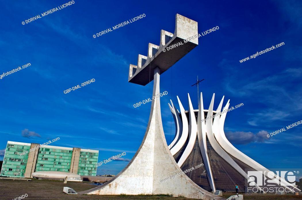 Stock Photo: Cathedral Metropolitana de Brasília, Brasília, DF, Brazil.