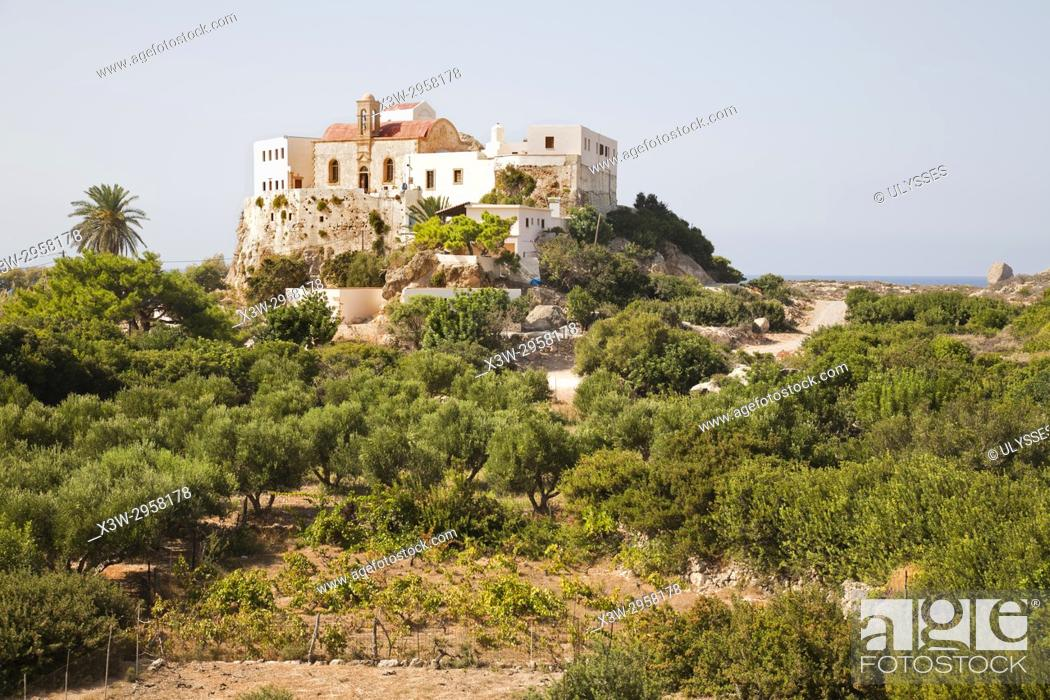 Stock Photo: Chrisoskalitisas Monastery, Crete island, Greece, Europe.