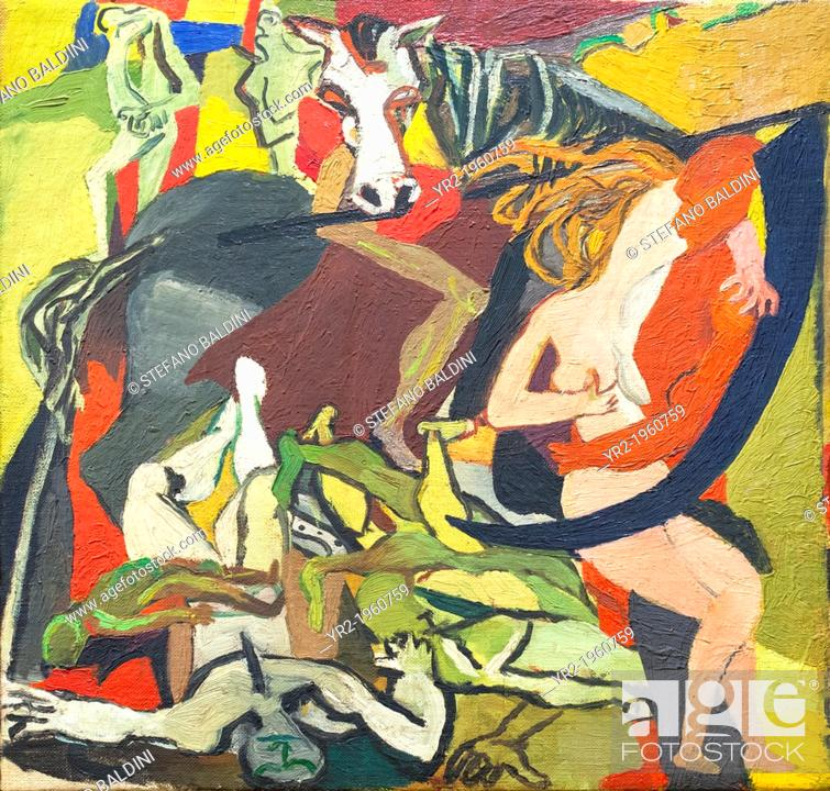 Stock photo triumph of death renato guttuso 1943 oil on canvas national gallery of modern art rome italy