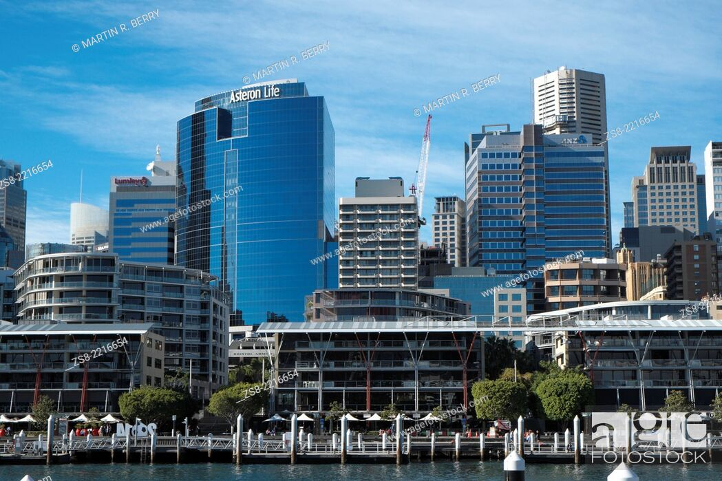 Stock Photo: Darling Harbour and Sydney Central Business District, Sydney, New South Wales, Australia.