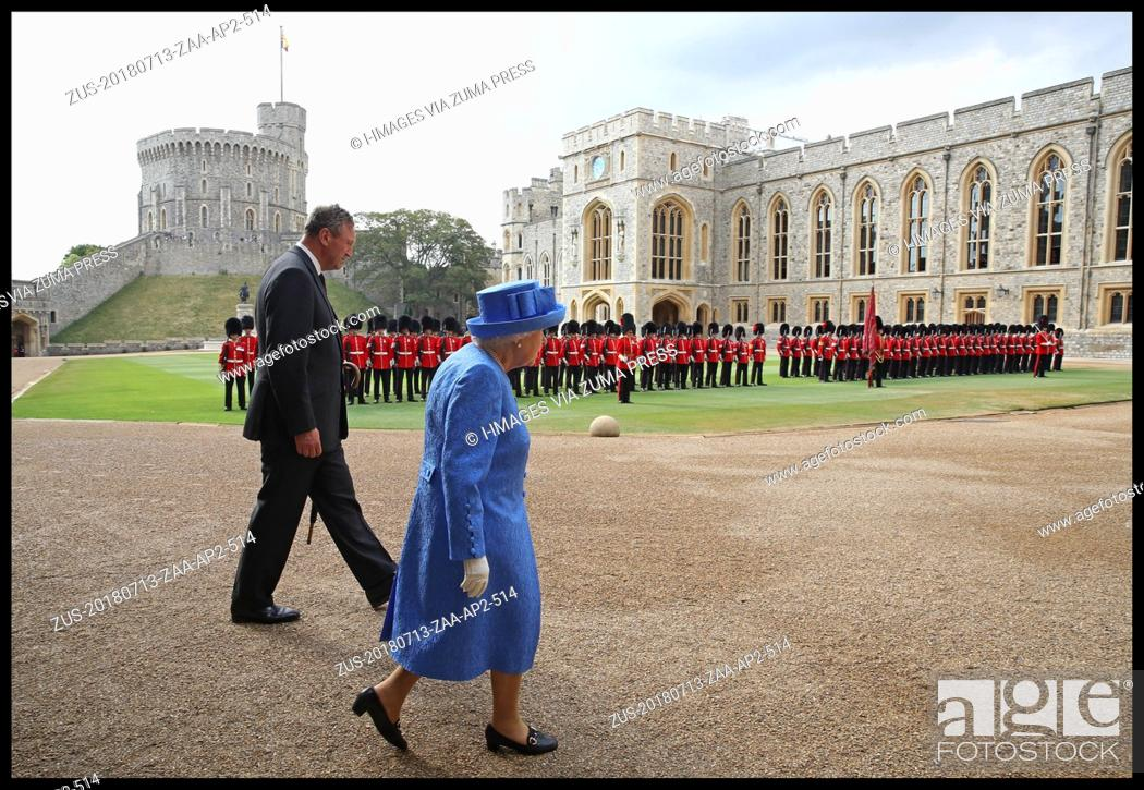 Imagen: July 13, 2018 - Windsor, Windsor, United Kingdom - Donald Trump meets with HM The Queen. Queen Elizabeth II greets President of the United States.