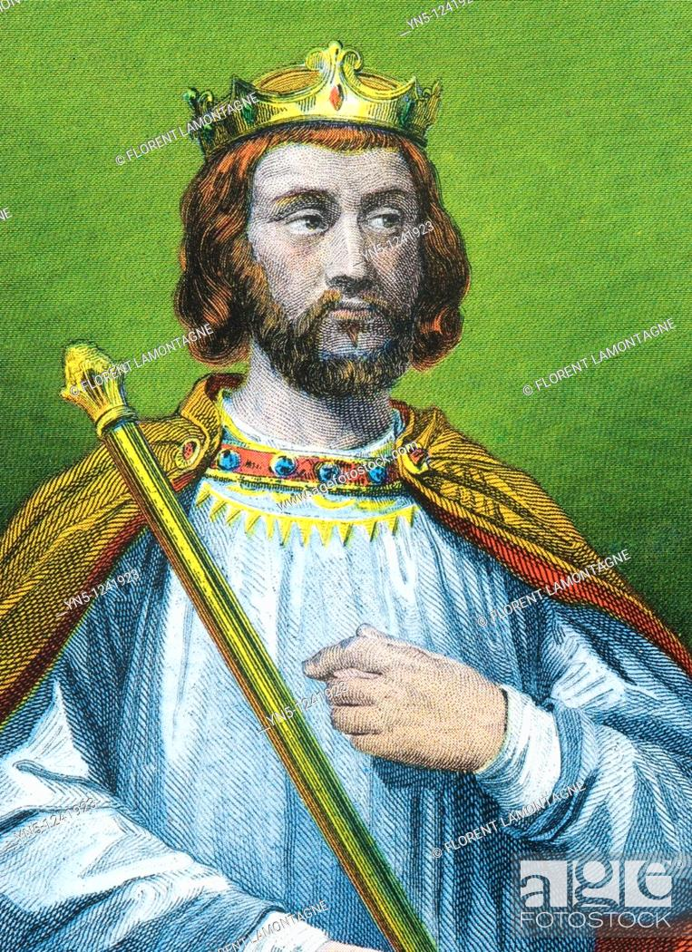 Stock Photo: CLOTAIRE III -673  King merovingian of France and Neustria.