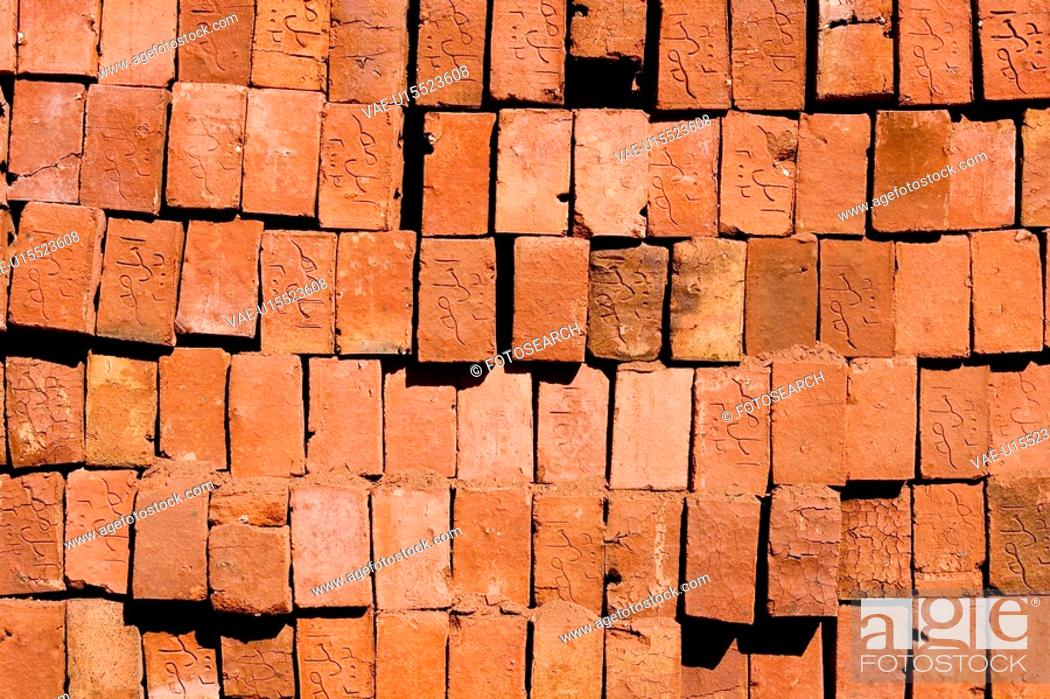Stock Photo: Brick, Day, Close-Up, Arrangement.