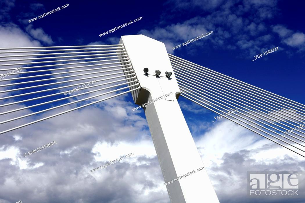 Stock Photo: Princep de Viana Bridge  LLeida, Spain.