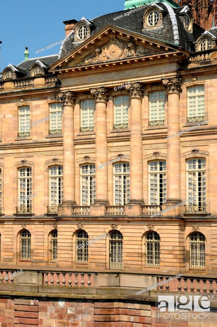 Stock Photo: France, Le Palais Rohan in Strasbourg.