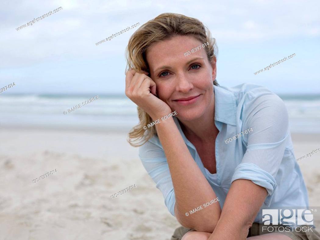 Stock Photo: Woman on the beach.