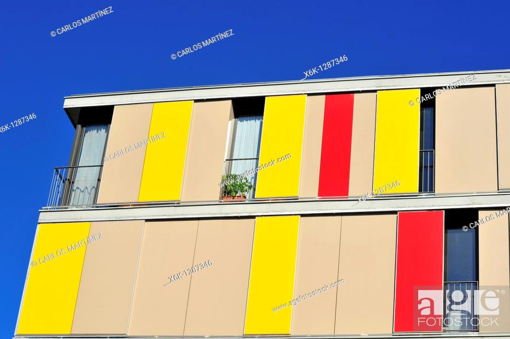 Stock Photo: Exterior residential building. Granollers, Vallès Oriental, Barcelona province, Catalonia, Spain.
