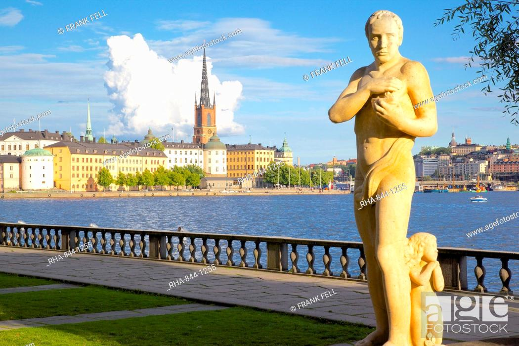 Stock Photo: City skyline from City Hall, Stockholm, Sweden, Scandinavia, Europe.